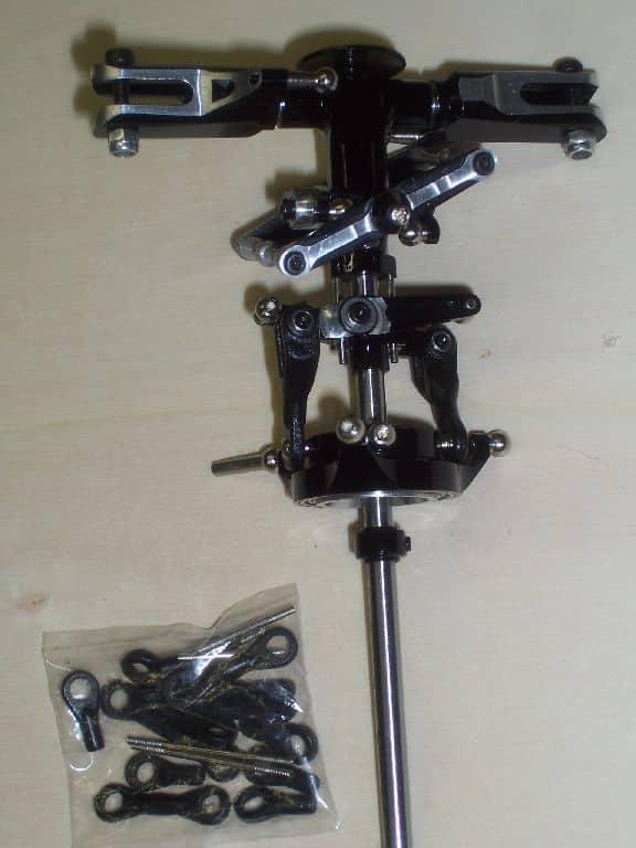 Hauptrotorkopf T Rex 450 pro FB schwarz silber