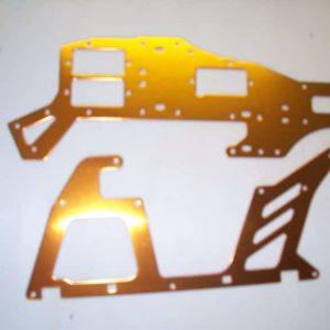 Alu Chassi Seitenteile T Rex 450 HKH 450