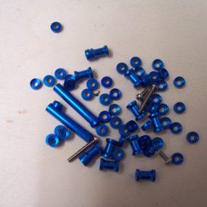 Rahmendistanzstücke Alu blau