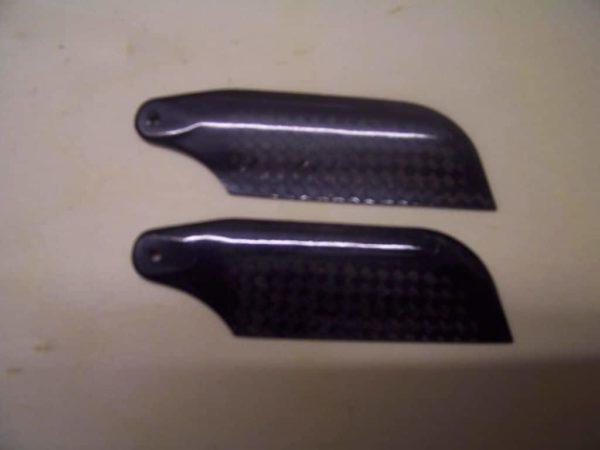 Heckrotorblätter 62mm Carbon schwarz T Rex 450 Copter X