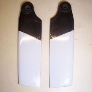 Heckrotorblätter GFK schwarz/weiß T Rex 500 HKH 500