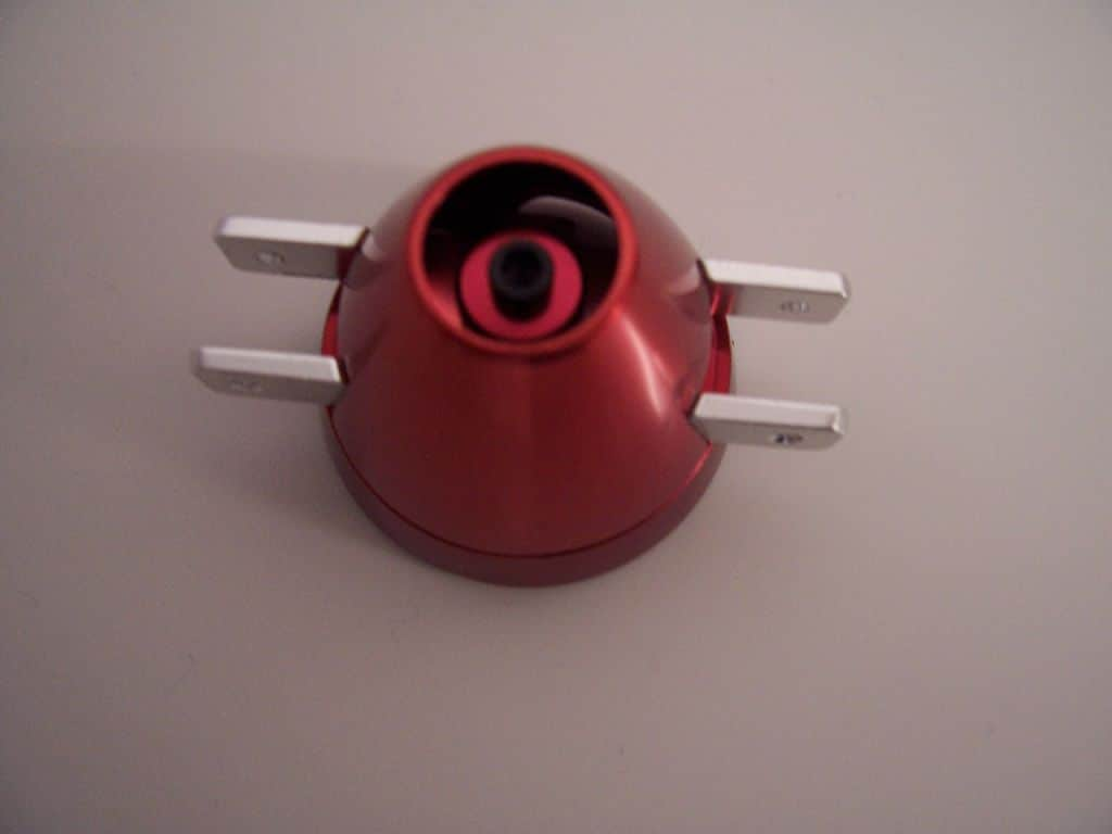 Spinner 45 6,0 offen Alu rot eloxiert