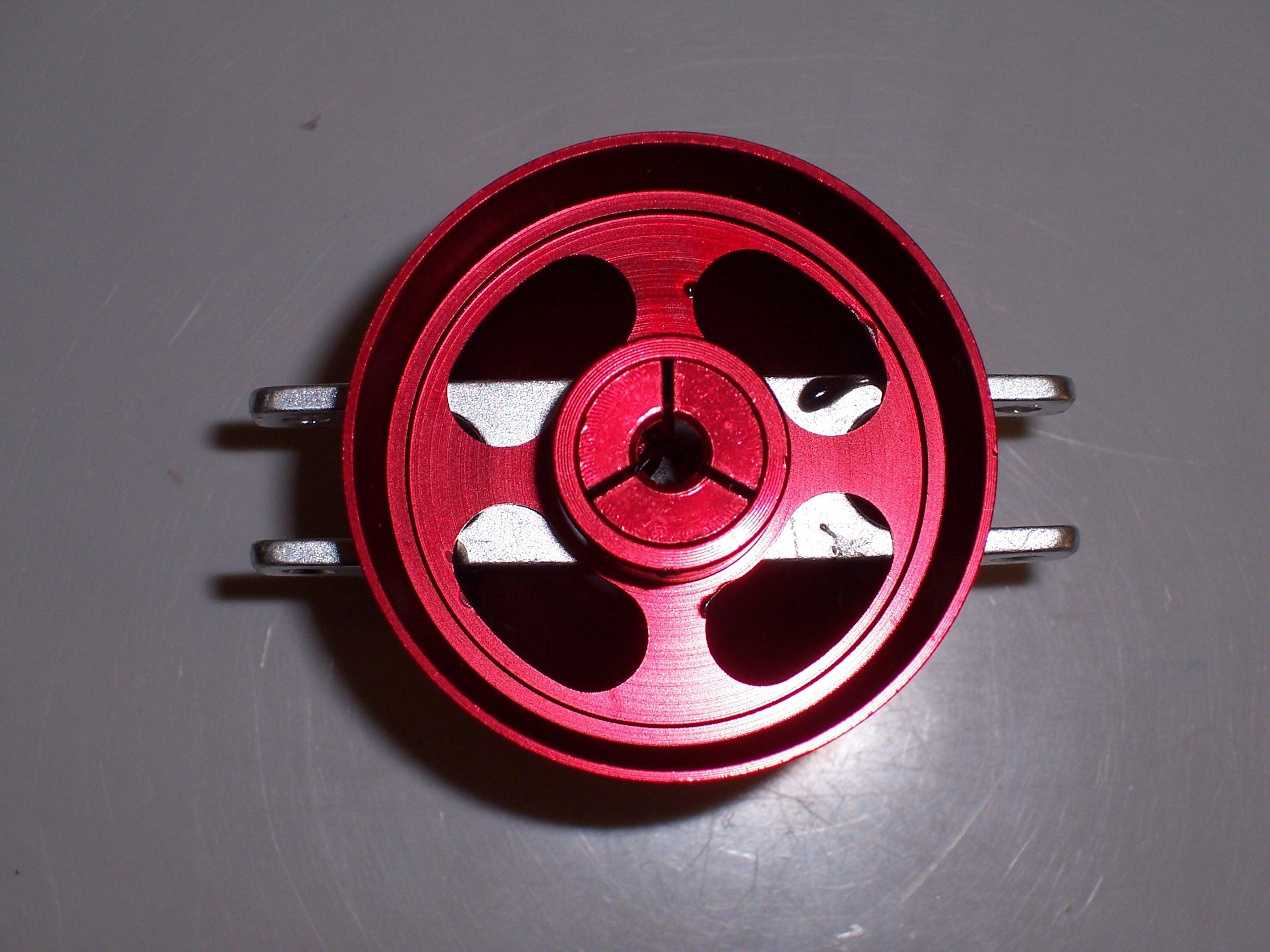 Spinner 40 3,2 offen Alu rot eloxiert