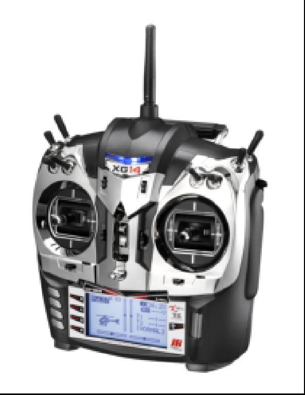 JR XG 14 schwarz metal.. DMSS TL 2.4 GHz Sender mit RG731BX, Ladegerät und Senderakku