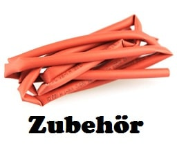 Schrumpfschlauch Yuki rot 3mm 1m lang