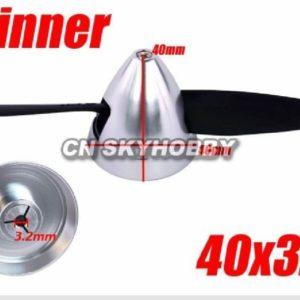 Alu Spinner 40 3,2 Silber