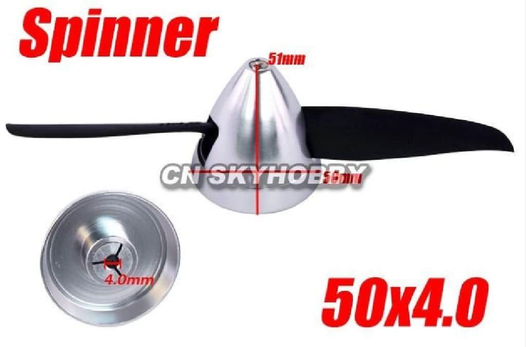 Alu Spinner 50 4,0 Silber