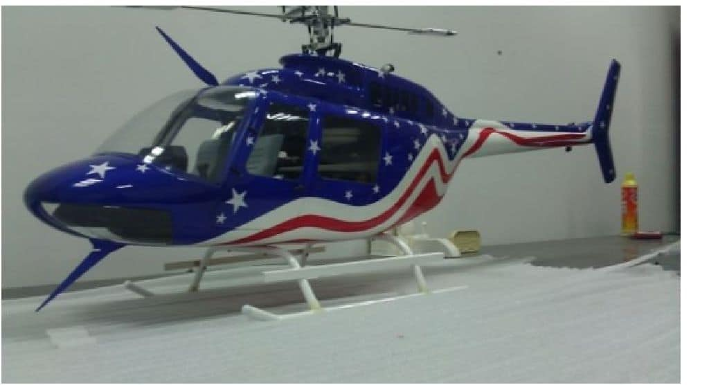 Bell 206 Jet Ranger in der Stars and Stripes Sonderedition