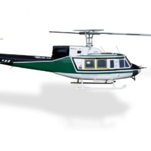 Scale Rumpf Roban Bell 212 Bell 212 Zivilversion Grün/Weiß