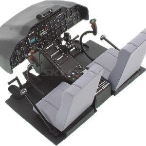 Cockpit mit Piloten für Bell 222 Airwolf 600er Scale.
