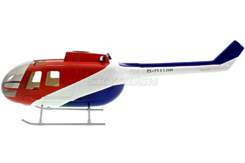 Scale Rumpf Roban BO105 Red/Blue
