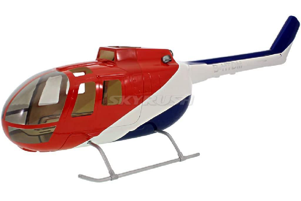 Roban Scale Rumpf Bölkow BO105 Red/Blue