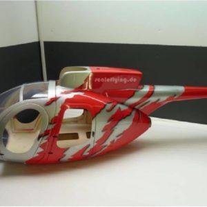 Scale Rumpf Roban  MD 500E GJive red
