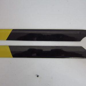 Hauptrotorblätter GFK schwarz/gelb T Rex 250 200mm