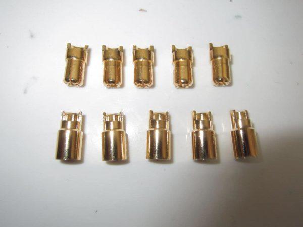 Goldkontakte 6mm 5paar