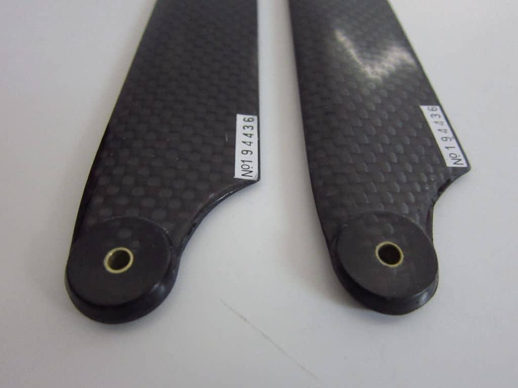 Heckrotorblätter Carbon schwarz T Rex 550/600 30~60 Class