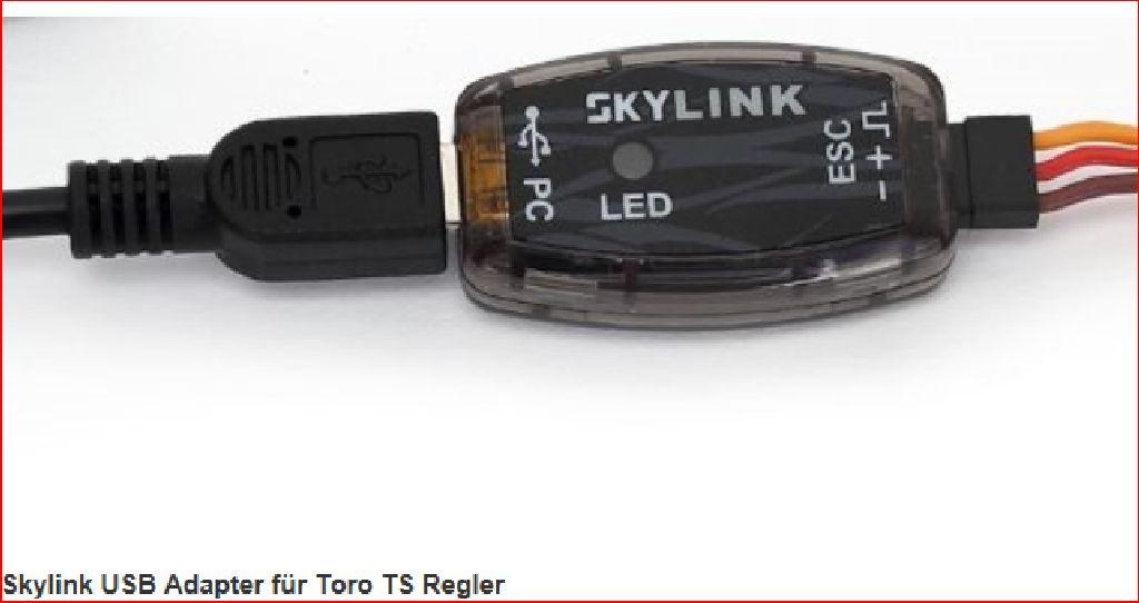 Skylink USB Adapter für Toro TS Regler