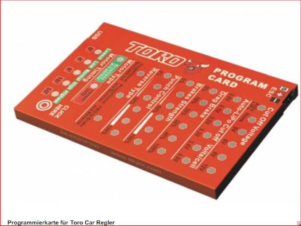 Programmierkarte für Toro Regler