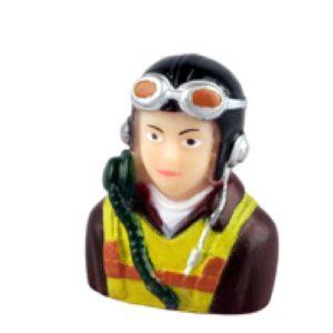 Pilotenbüste Militär  Pilot