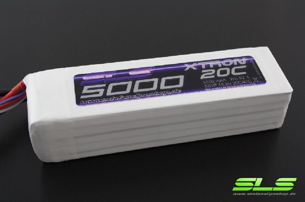 SLS XTRON 5000mAh 6S1P 22,2V 20C/40C