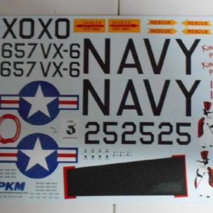 Sikorsky S-58 King Pin II Decals PKM Rumpf 500er