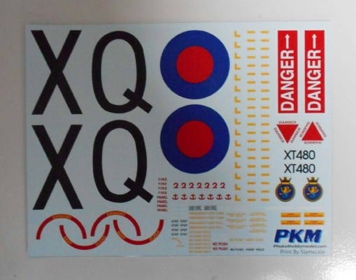 Wessex UH5 Helicopter 30th Anniv Falklands War Decals PKM Rumpf 500