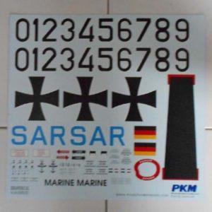 Sikorsky H34 SAR Decals für PKM Rumpf 500er