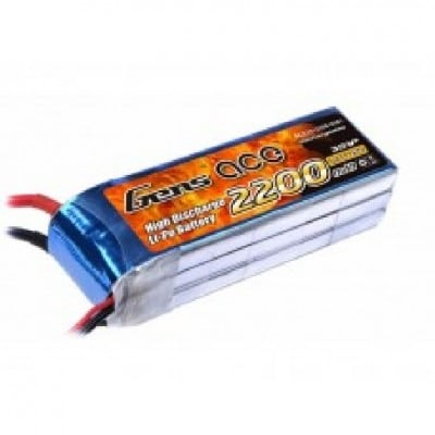 GensAce 2200mAh 11.1V 25C 3S1P Lipo with XT60 Plug for DJI Phantom