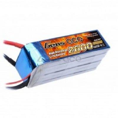 GensAce 2600mAh 22,2 V 6S1P 45C Lipo
