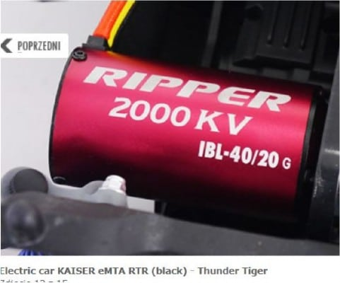 Off-road electric car KAISER eMTA RTR red, manufactured by Thunder Tiger.