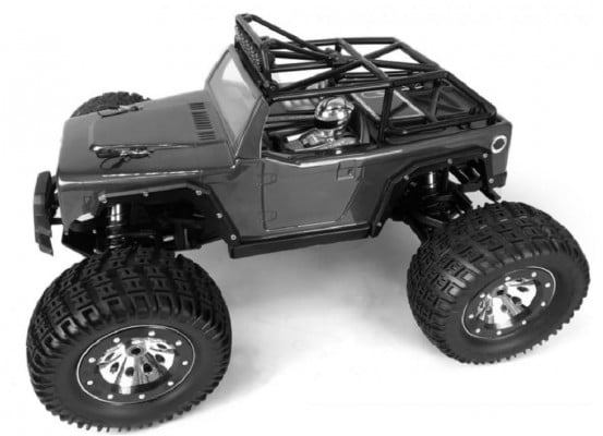 Off-road electric car KAISER eMTA RTR black, manufactured by Thunder Tiger.