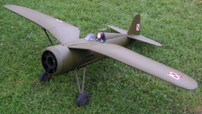 AIRPLANE PZL P-11 (2500 MM) VERSION KIT