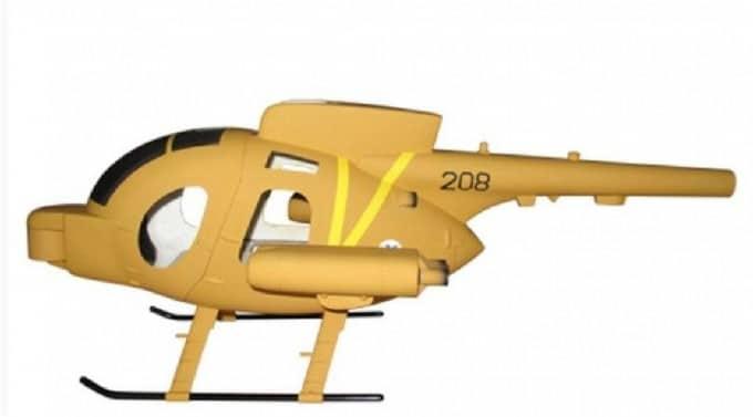 Roban Scale Rumpf Hughes 500 Defender Desert Army