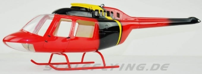 Scale Rumpf Roban Bell 206 News Chopper