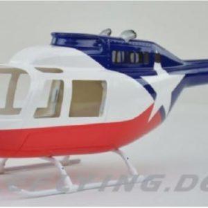 Scale Rumpf Roban Jet Ranger 206 New Chopper