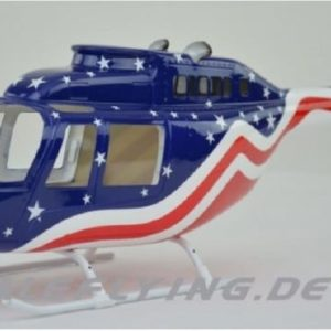 Scale Rumpf Roban Jet Ranger 206 Stars&Stripe