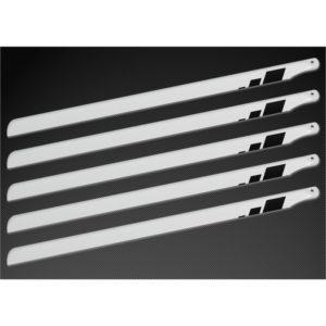 Scale 5 Blattsatz für 450er Helis SpinBlade 350 weiß