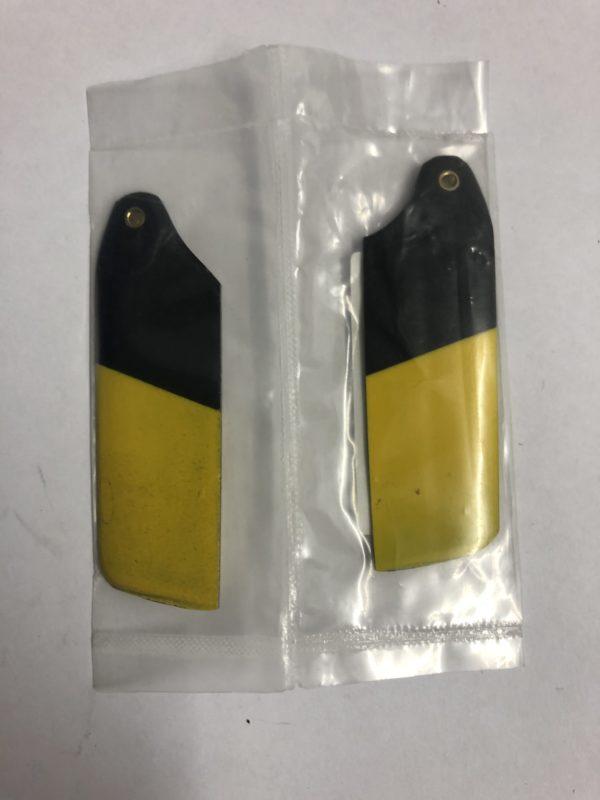 Heckrotorblätter GFK schwarz/gelb T Rex 450 HKH 450